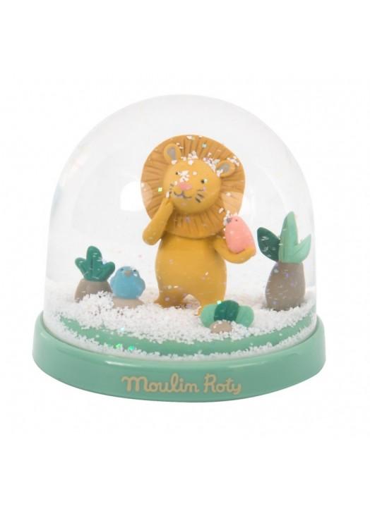 BOULE A NEIGE LION SOUS MON BAOBAB -  - Pau d'Ours Cadeaux de...