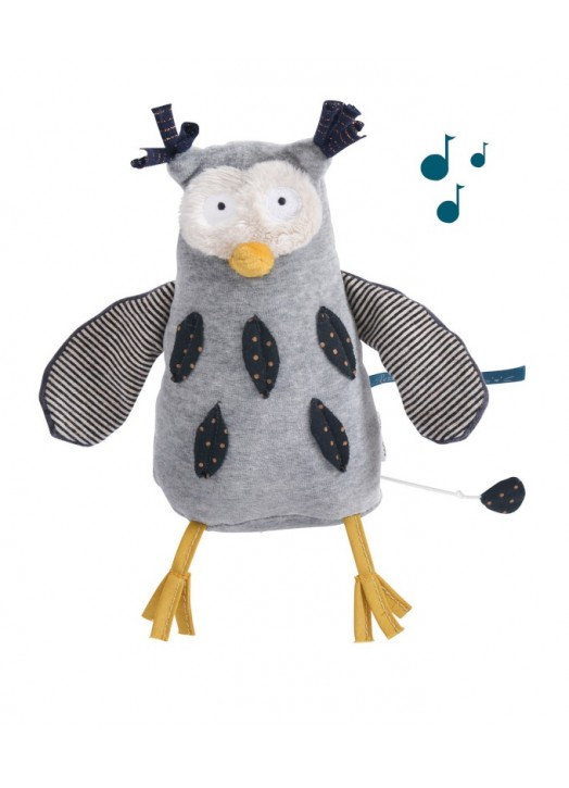 HIBOU MUSICAL LES MOUSTACHES -  - Pau d'Ours Cadeaux de naissances