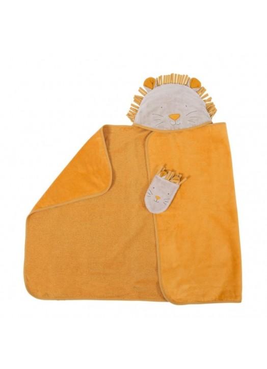 SORTIE DE BAIN LION PAPRIKA -  - Pau d'Ours Cadeaux de naissances