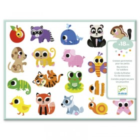 GOMMETTES BEBES ANIMAUX