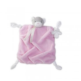 DOUDOU OURS PLUME ROSE