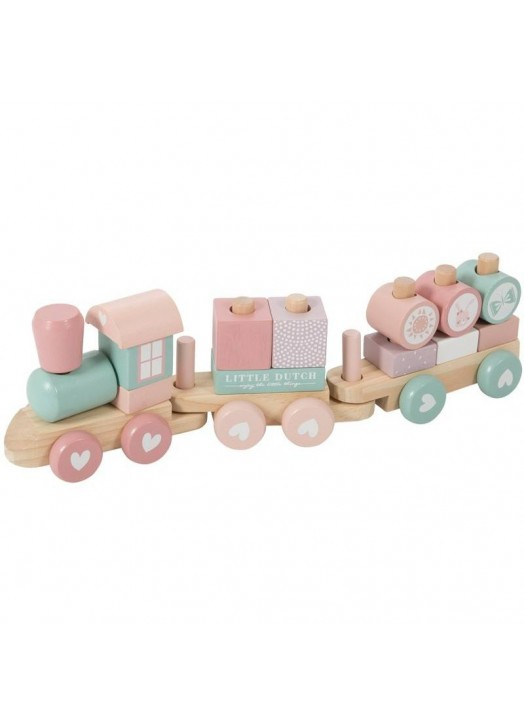 TRAIN EN BOIS ROSE