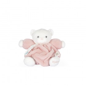 PETIT OURS PLUME ROSE POUDRE