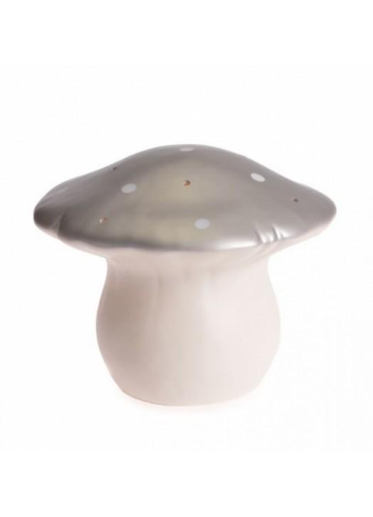 LAMPE CHAMPIGNON MOYEN ARGENT
